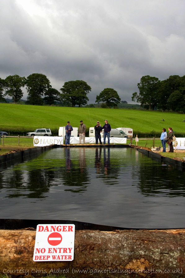 North Wales Country Fair 2010 - GAIA Instructors hard at work at the casting pool...