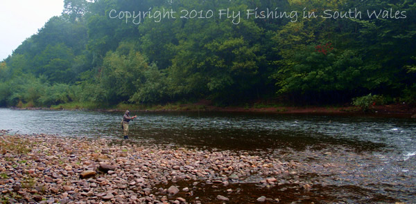 Fishing, Beer and the End of All Things Trout: Mrs C Fishing a Very Fishy Looking Run