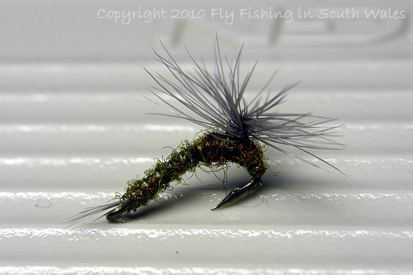 The River Taff Collection - Reversed Parachute Emerger - Blue Winged Olive