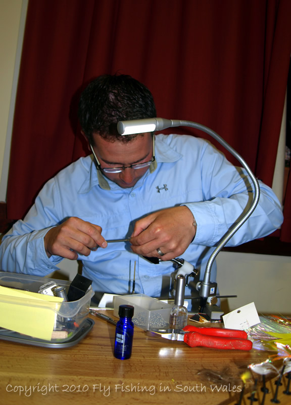 April 2010 - The annual Gwent Angling Society Fly Tying Demo Night
