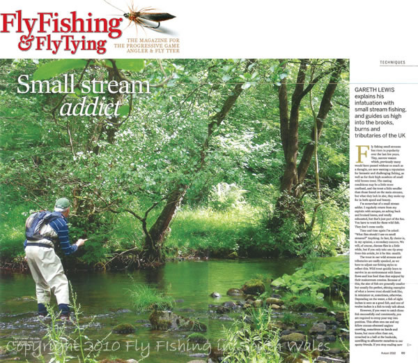 August 2010 - My article in Fly Fishing & Fly Tying Magazine