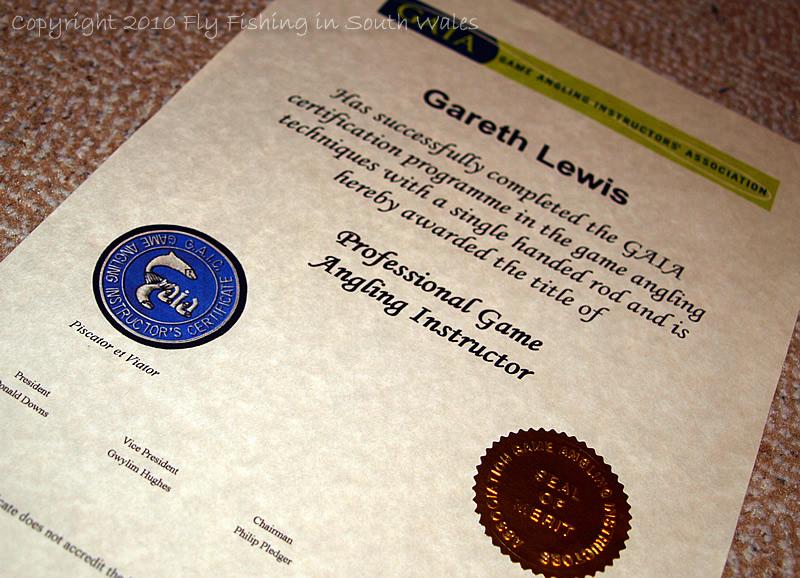 November 2010 - Game Angling Instructors Certificate (GAIC)