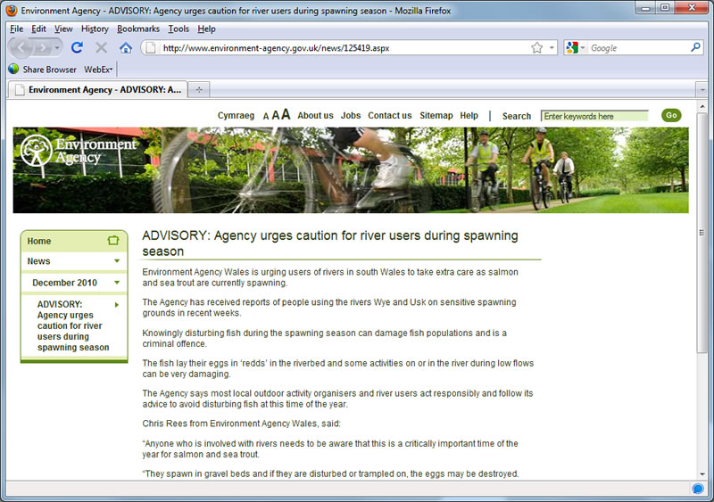 Environment Agency Screenshot