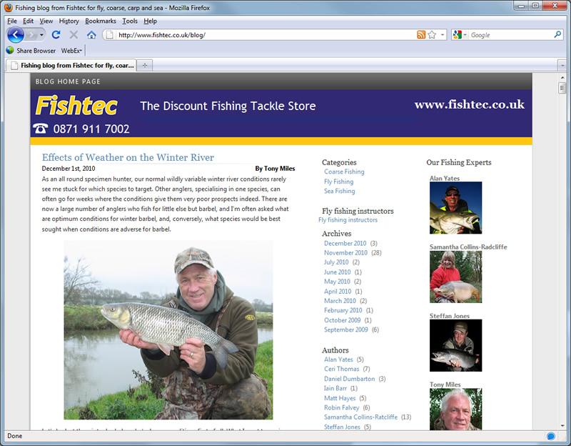 Fishtec Blog at www.fishtec.co.uk/blog