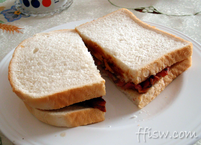 Bacon & Egg Sandwich - A great start to any Saturday morning!