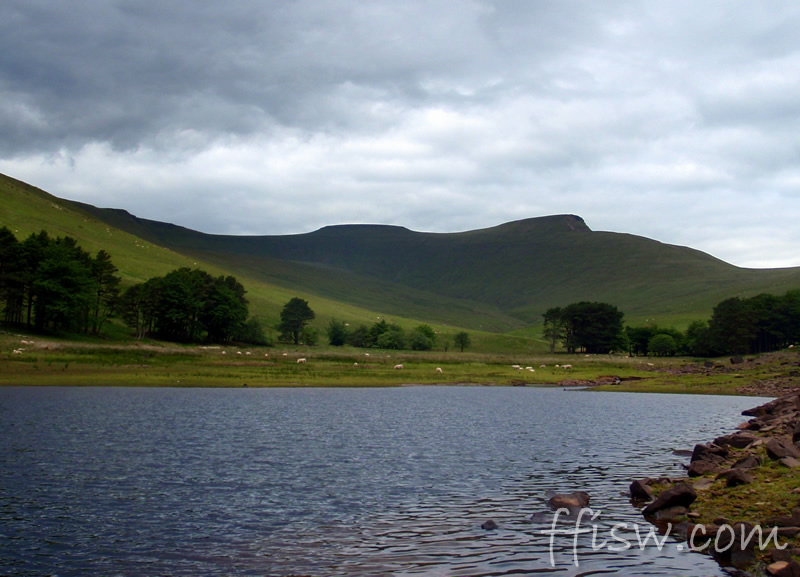 In the distance, mighty Pen y Fan, and evidence of glaciation at its best...