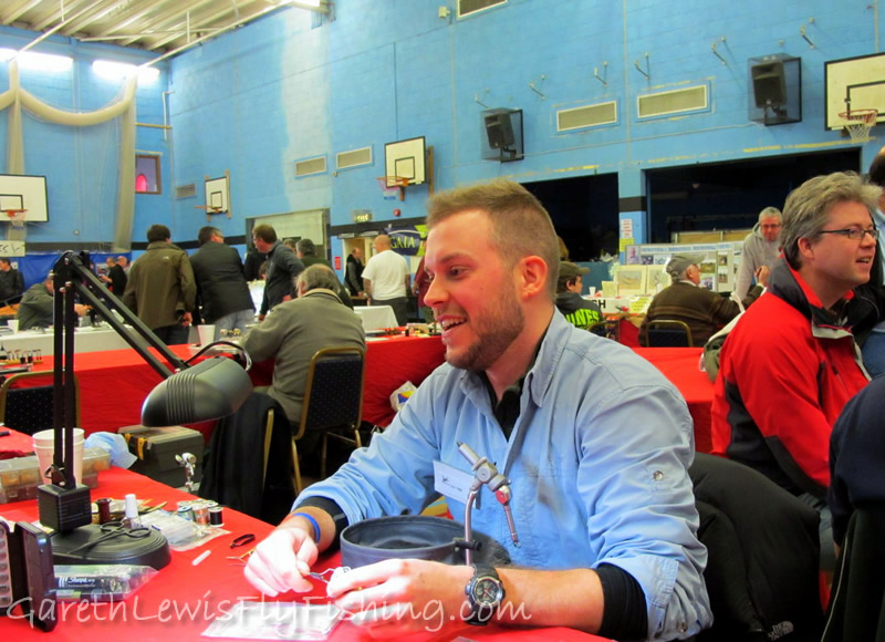 Welsh Fly Fair 2012...and a very tired Gareth after a long day at the vice...