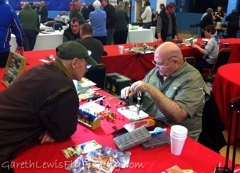 Welsh Fly Fair 2012...My table partner, the mighty Dai Jones..