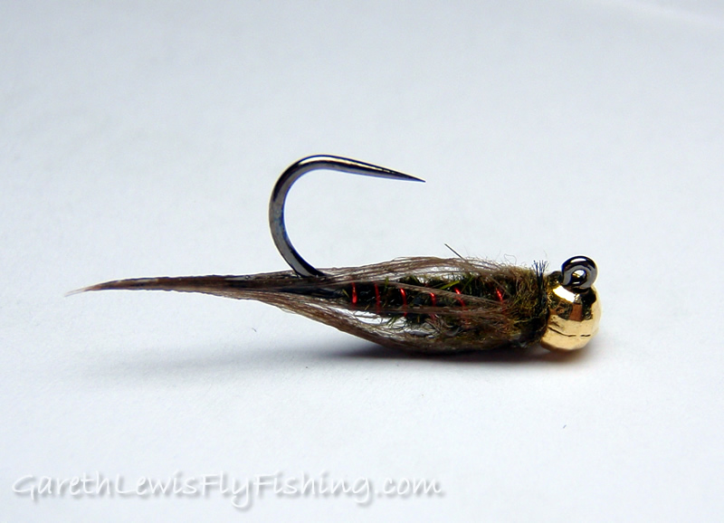 Olive & Red Jig - Wet