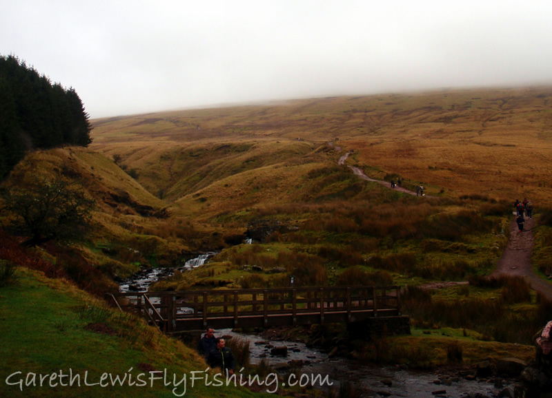 The start of the route - the path leading to Corn Du...