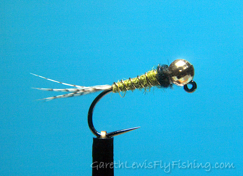 Olive & Black Flashback Jig Nymph